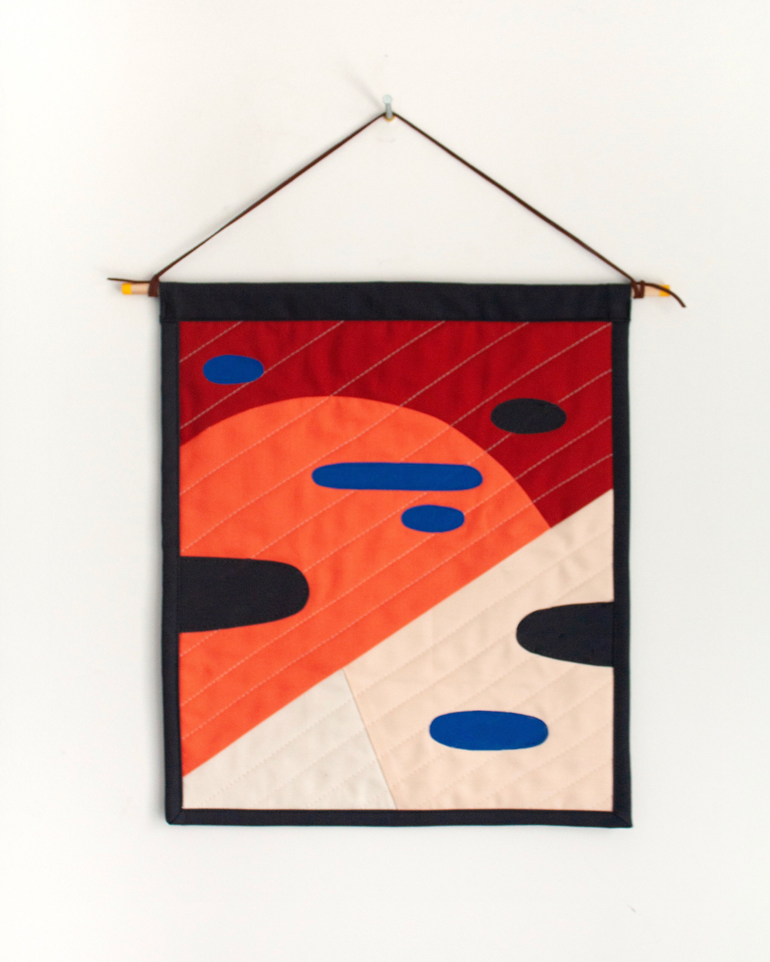 Another Planet Quilted Wall Hanging (Mars)