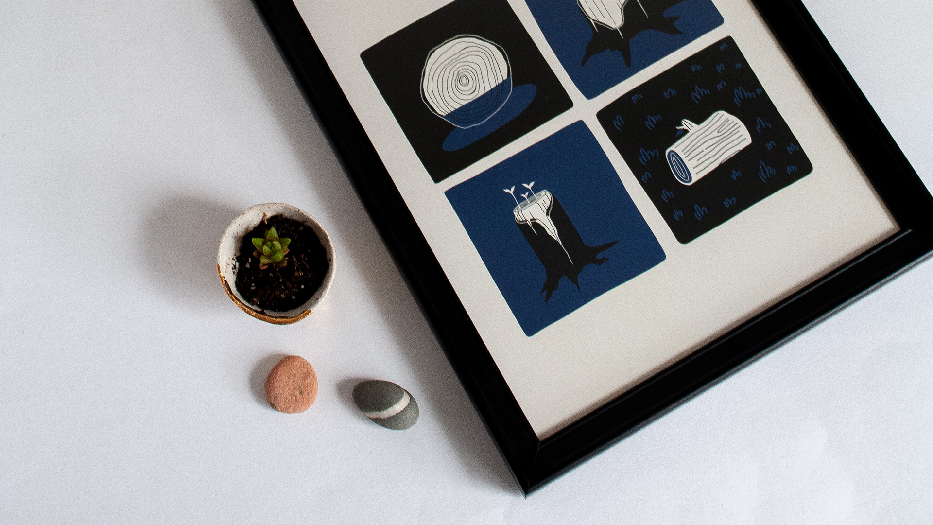 ART PRINTS - Find the story that resonates with you. For every feeling and every space. Each print is individually signed and loving snuggled into a biodegradable PLA sleeve with a PCW backing board.
