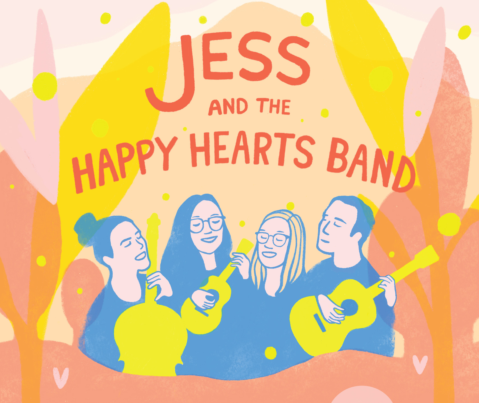 Happy Hearts Band Concert Poster