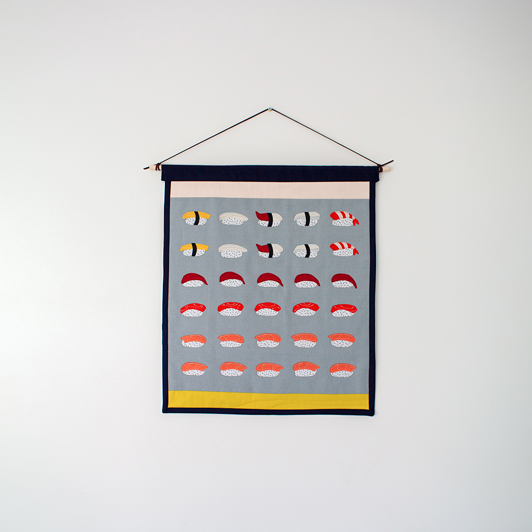 Nigiri Quilted Wall Hanging