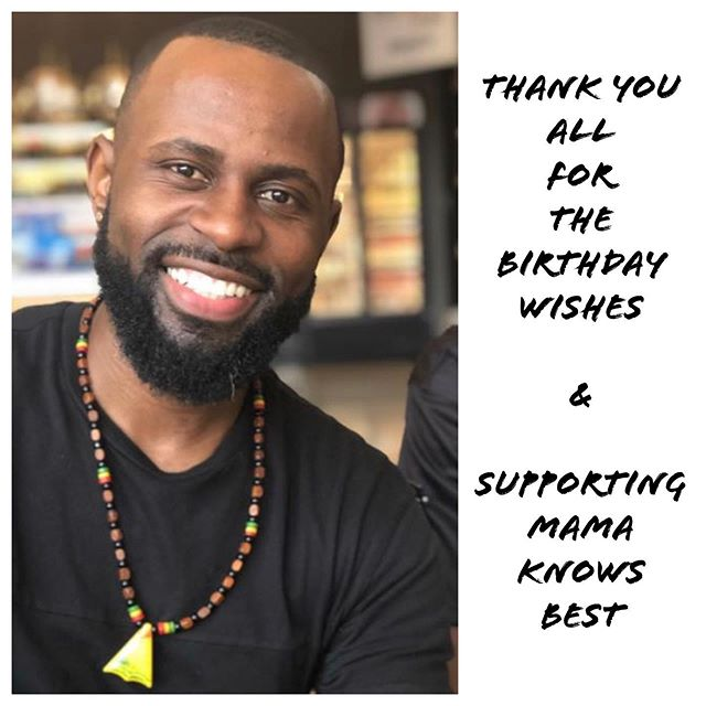 THANK YOU to everyone for the tsunami size birthday wishes and overwhelming support of @mamaknowsbest.tv!!! I wish I had the words to truly express my gratitude but my vocabulary isn't sophisticated enough so I just want to reiterate THANK YOU from every angle of my heart. I spoke to #DebraWilson this morning and she wants to thank you as well. She said it was her first audiobook in EIGHT (there's that # again) years. Within the first few hours of its release, there were over 300 downloads! Whew, y'all really love me, huh?  Please post your reviews online, make funny videos I can share and be sure to tell everyone you know! -Signed Justin Key, an actor and creator sitting at a coffee shop in LA working because that's what we do 75% of the day.  #HappyBlackMan #MamaKnowsBest #JustinKey 📸: @lisabexperience