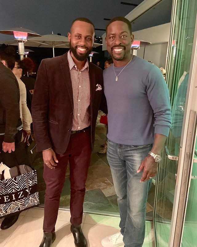 Nothing to see here. Arguably the best actor of my generation. Oh, and do y'all know the other guy? 😂 That's my homie, @sterlingkbrown. The conversation was too dope and deep for me to put into words but what I can tell you is that he, in my professional and seasoned opinion, has secured his Oscar nomination for his role in @wavesmovie that premieres in November. Y'all...whew!! I can't even really form words. Remember that you heard it from me FIRST! 📸: @etucker_pr . #Waves #SterlingKBrown #JustinKey #BlackExcellence #AAFCA #ActorsLife #BlackMenWithWhiteTeeth
