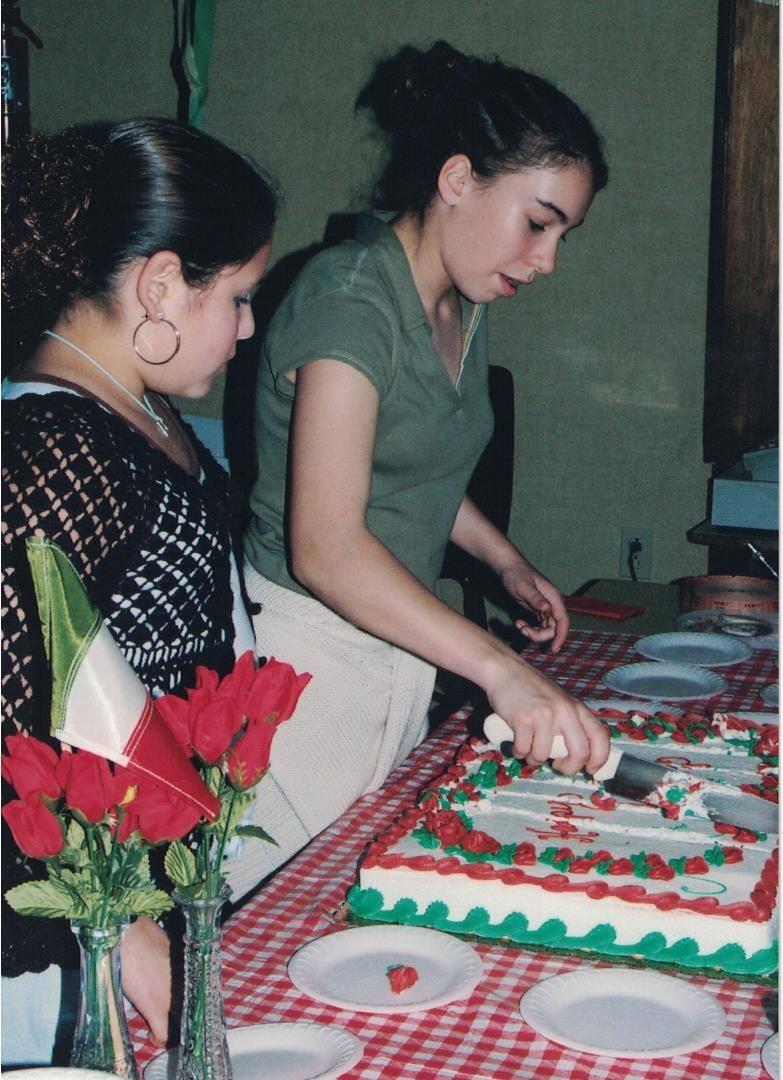 2004 - Cake Servers Alex Gallo & Elena Lavorato