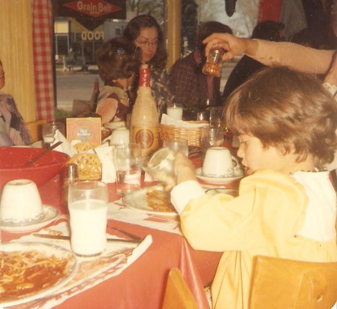 1976 Katie in yellow dress