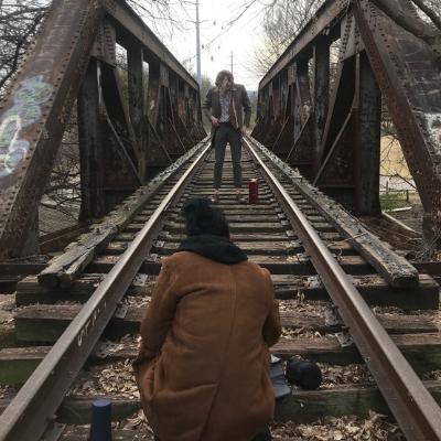 Chris Shelton and I shooting a music video