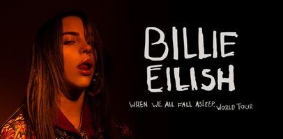 Promo for Billie's WHEN WE FALL ASLEEP world tour