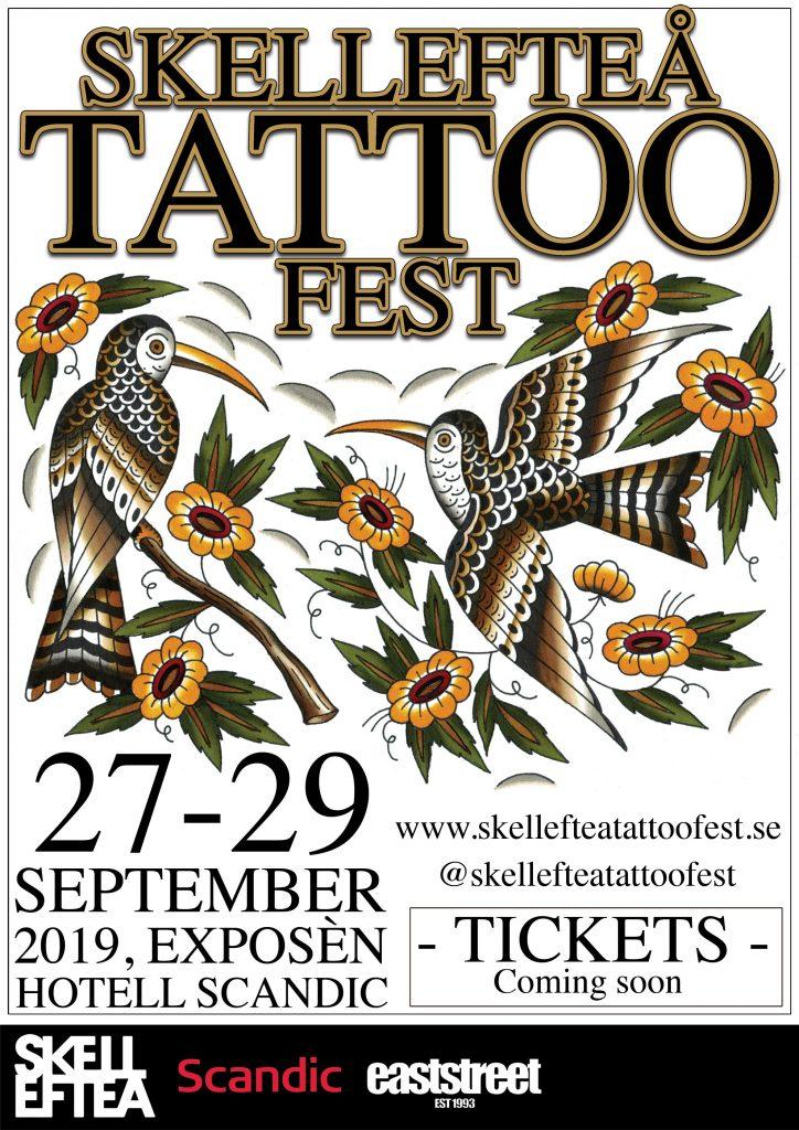 SKELLEFTEÅ TATTOO FEST 27-29 September 2019. SKELLEFTEÅ, SWEDEN. -