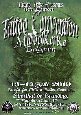 6TH EDITIONTATTOO CONVENTION 13-14 july 2019. MIDDELKERKE, BELGIUM. -
