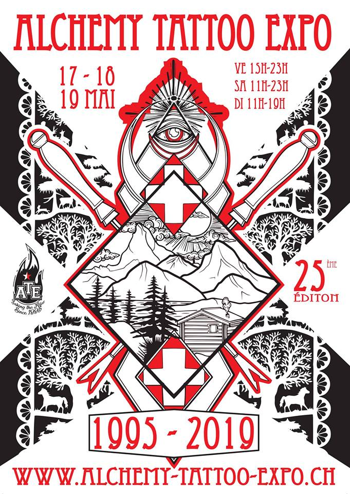 25TH EDITION ALCHEMY TATTOO EXPO17-19 May 2019.CONTHEY, SWITZERLAND. -