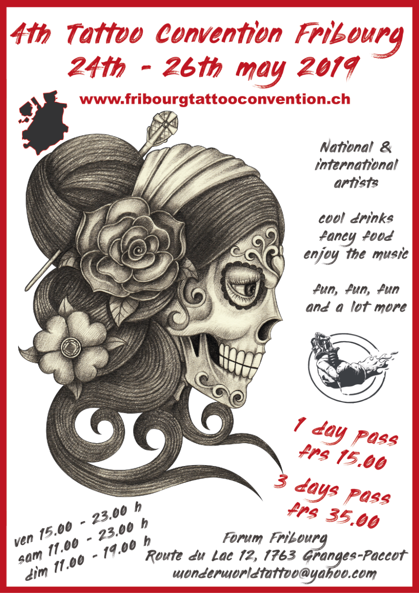 4TH TATTOO CONVENTION 24-26 May 2019.FRIBOURG, SWITZERLAND. -
