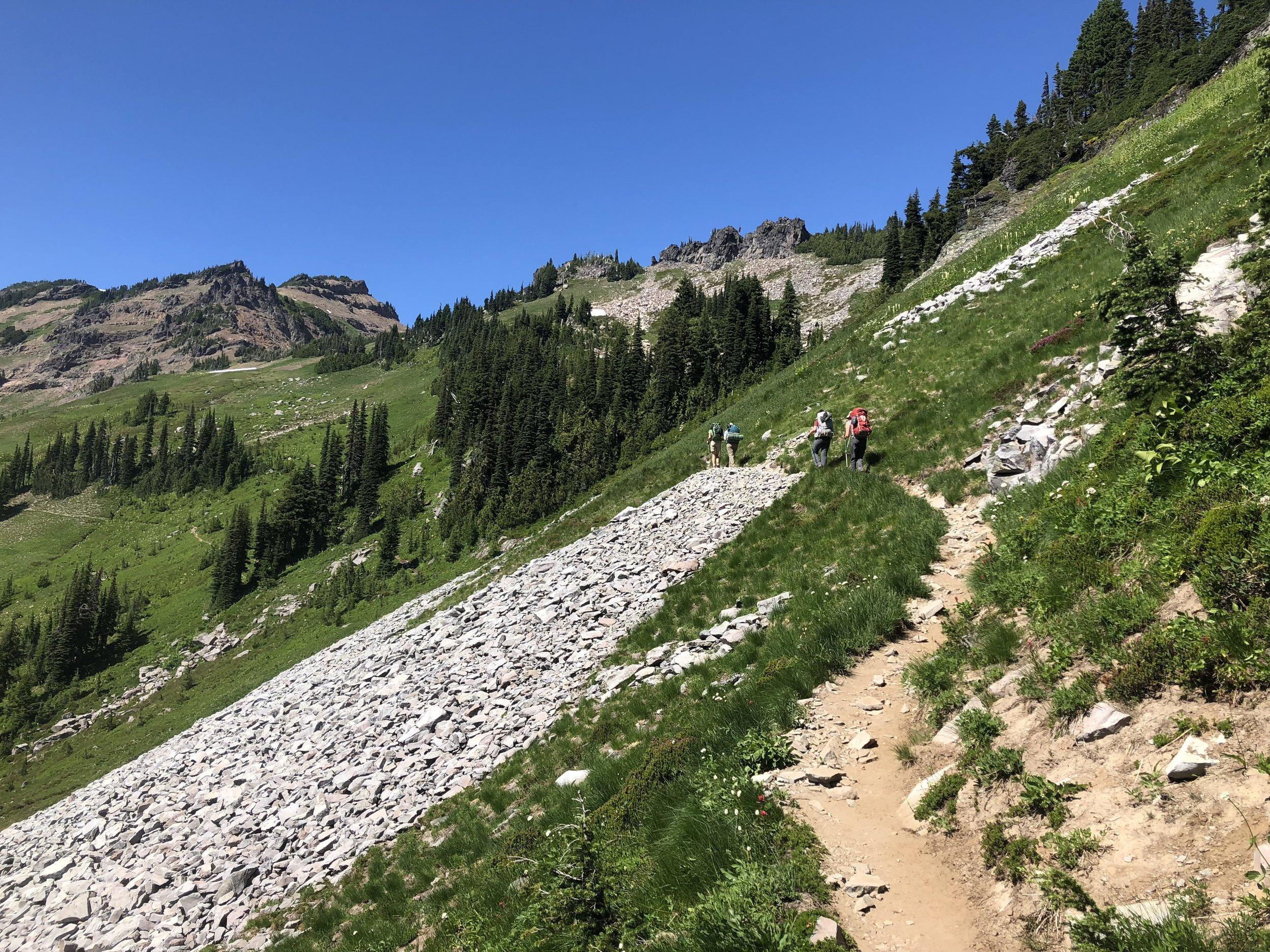 The trail approaching Goat Lake