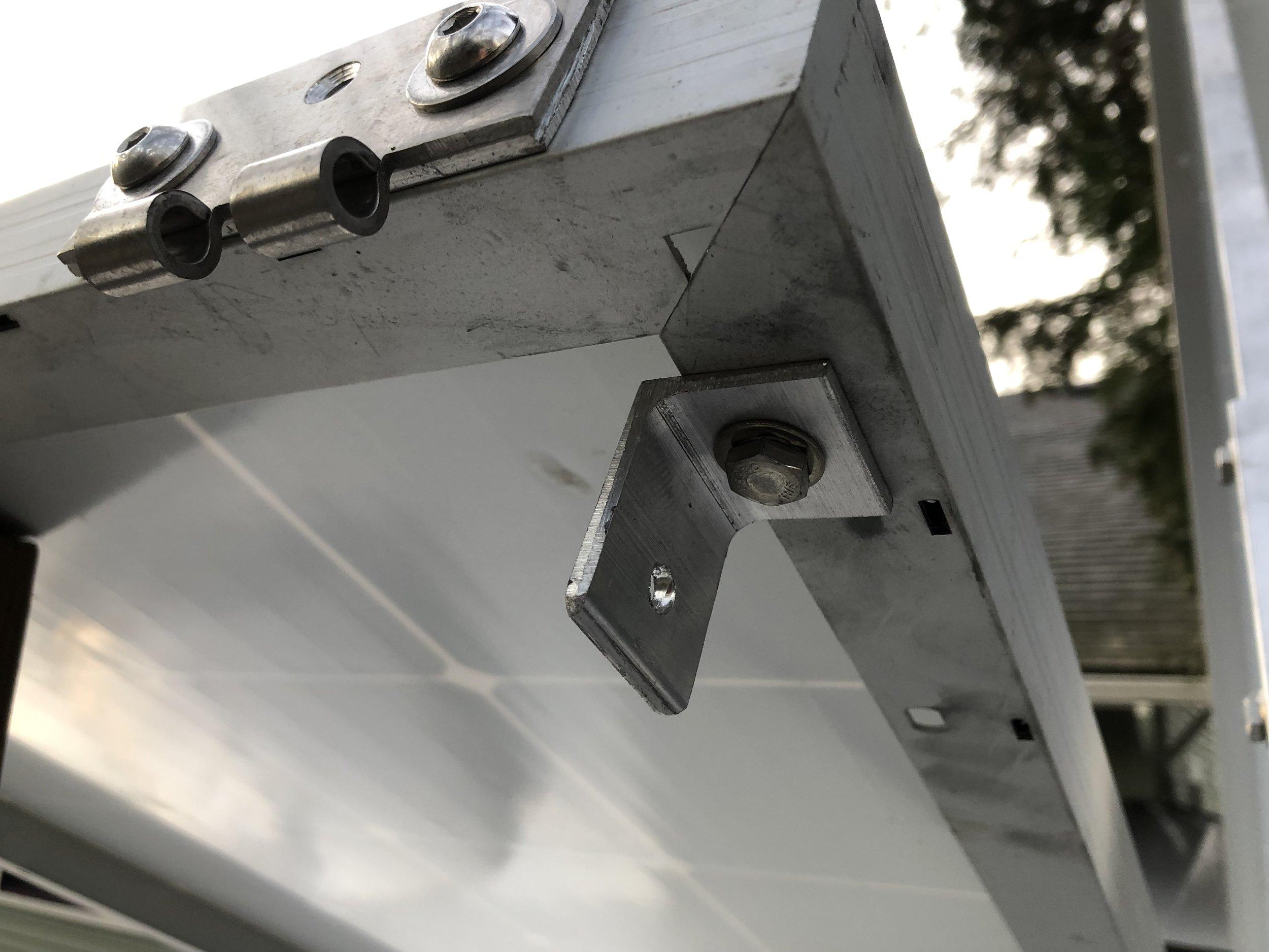 Tilting Solar panel install — Sunlight and trees
