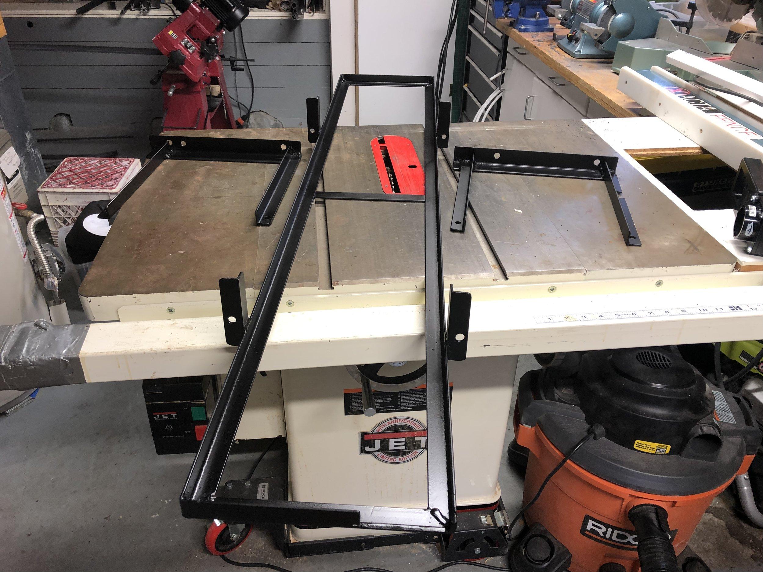 Tray and brackets