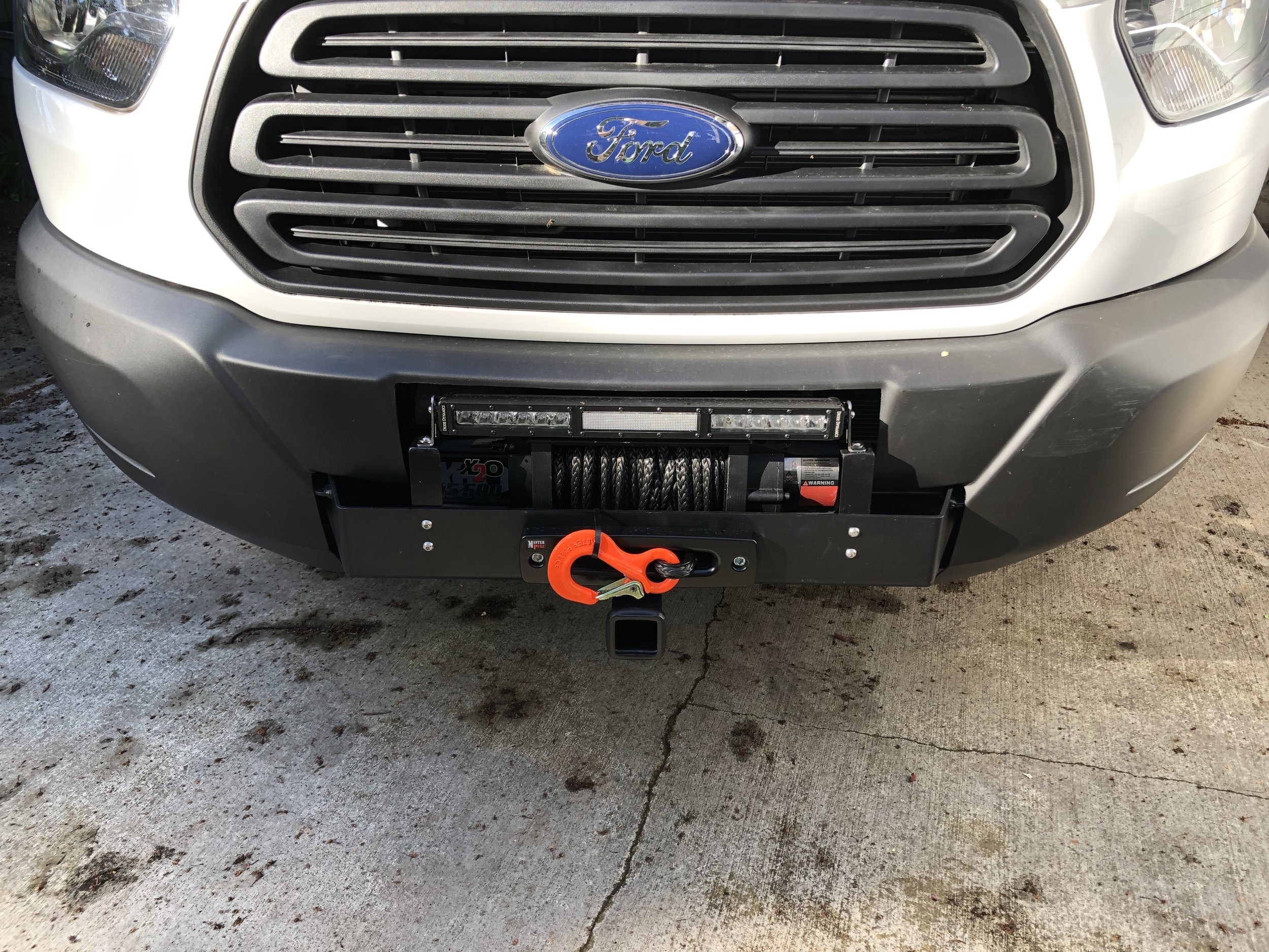 Van Compass hitch receiver, SmittyBilt winch