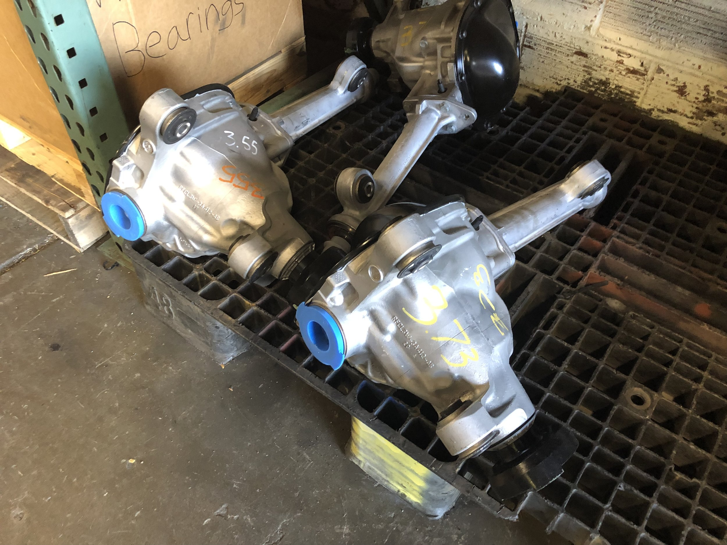 F150 front differentials waiting for installation