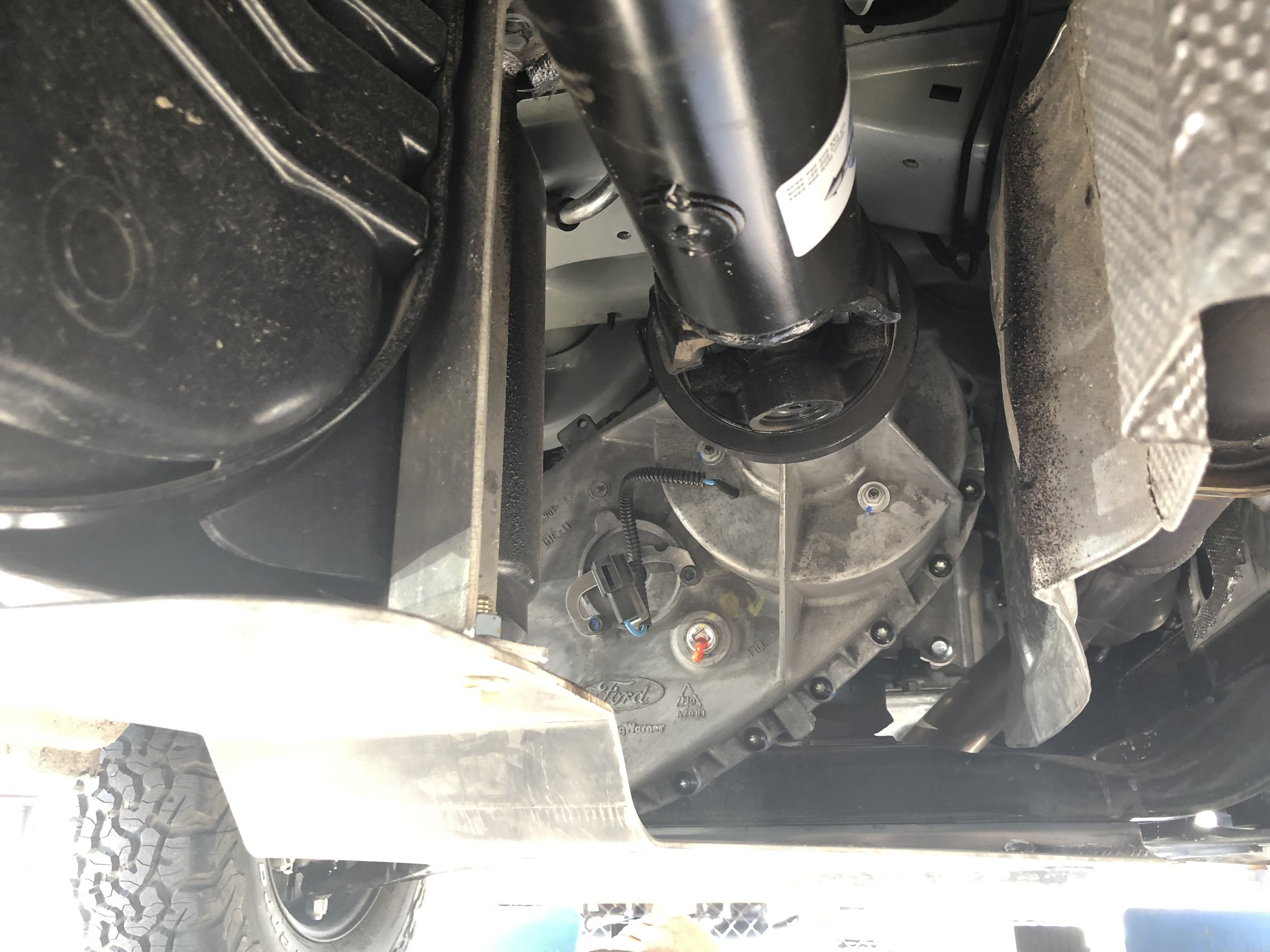 Rear of tranny to drive shaft