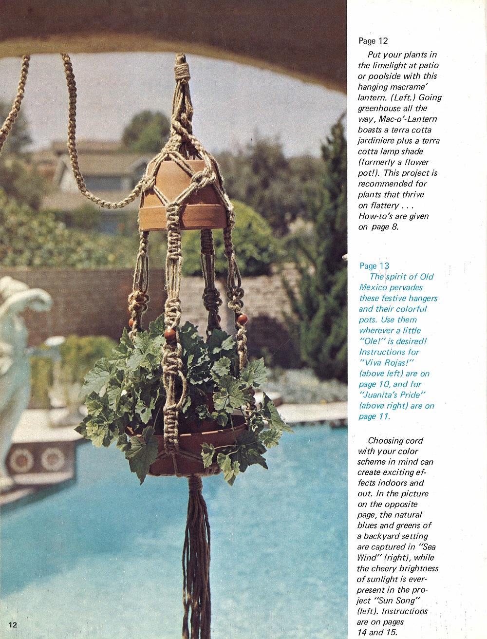 Easy To Make Macrame Pot Hangers Vintage Macrame Pattern Book Macrame Books