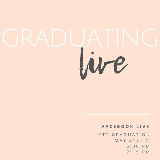 Tune into BMC's Facebook live tomorrow at 6 and 7:15 PM to watch our YTT students graduate. As 200 hour graduates, they look forward to leading Vinyasa Yoga, Yin, Restorative and Prenatal Yoga.