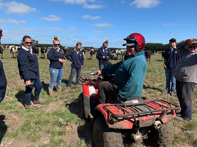 Throwback to when RIST students visited Bryan & Jo Dickson's Emu Banks farm last month. RIST students have the opportunity to learn from real farmers about the agricultural industry as part of their studies.