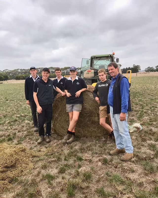 """Tractor training at RIST - Our students getting hands on learning with high quality silage, tractor and FEL operations at RIST's Terang Campus. The students had a great day, saying """"I thought I knew about tractors, but every tractor is different"""" and """"I learnt so much today"""". #RISTagcollege"""