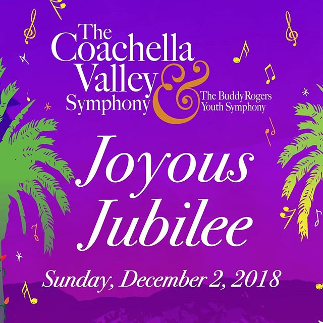 "🎼Kick off the holiday season with Coachella Valley Symphony ""Joyous Jubilee"" concert, sumptuous dinner and silent auction on December 2, 2018 in The Show at Augua Caliente Casino. 👉Tickets are now available...be sure to purchase yours today! (link in bio) #cvsymphony 🎼🎶🎵🎶 . . #music #performance #concert #dinner #aguacaliente #theshow #holidayconcert #visitpalmsprings #ranchomirage #coachellavalley #365thingstodoinpalmsprings #palmsprings #palmspringslife #creativopartners"