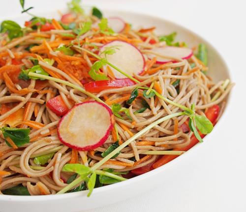 Gluten free soba noodle salad