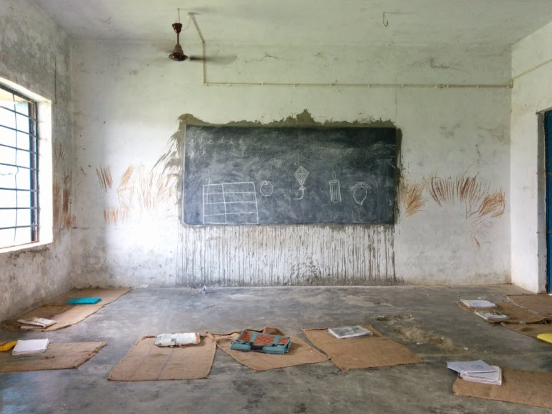 A classroom in the Bhilwara district of Rajasthan.