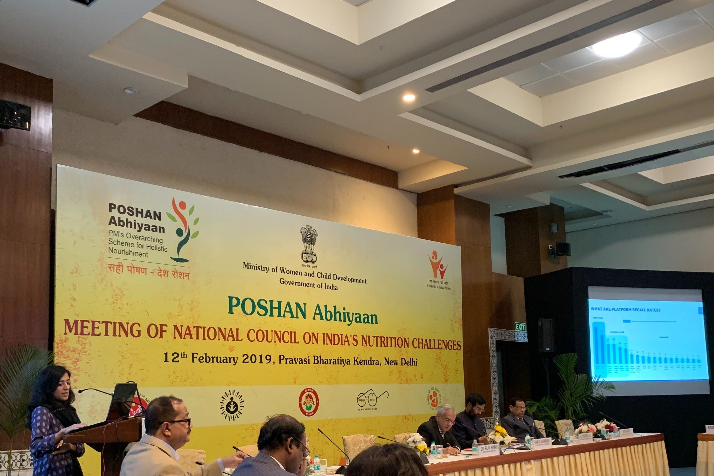 IDinsight's Divya Nair presents our findings on Poshan Abhiyaan's Social and Behavior Change Communication at the National Council on India's Nutrition Challenges.