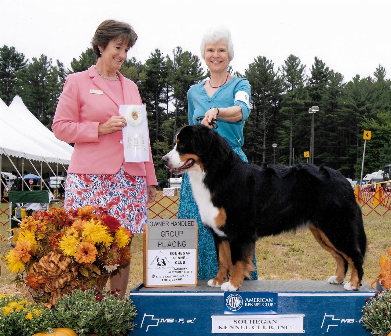 Grand Champion Kiri with her owner/handler, Alison. Kiri is from our J Litter.