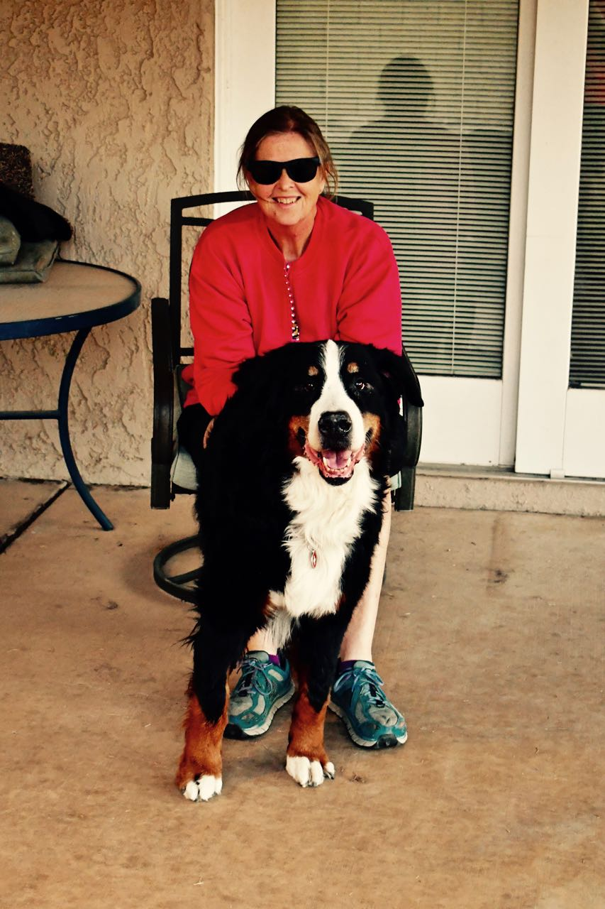 Ten-year-old Ruben from our G Litter with his Breeder, Mary-Ann.