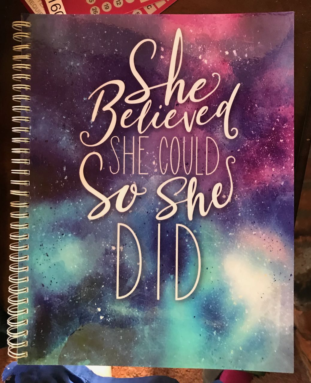 This project requires a notebook that constantly reminds me to keep the faith.