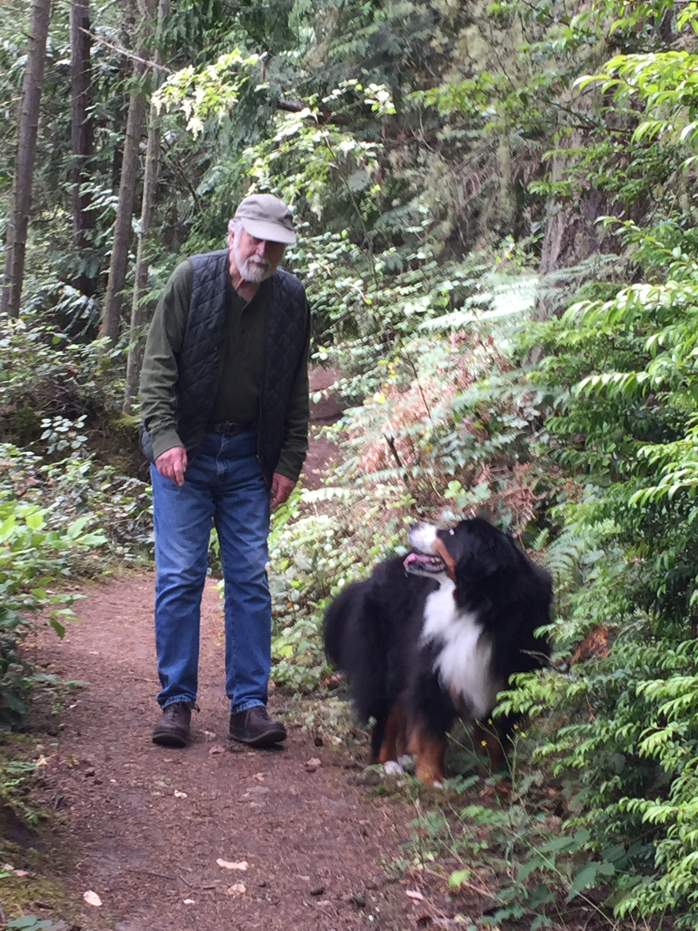 """""""On a walk at Fort Townsend with Ken."""""""