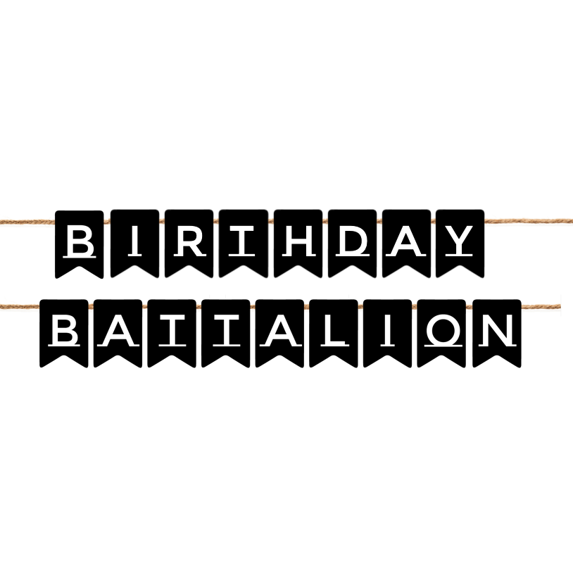Birthday Battalion Bunting (1)