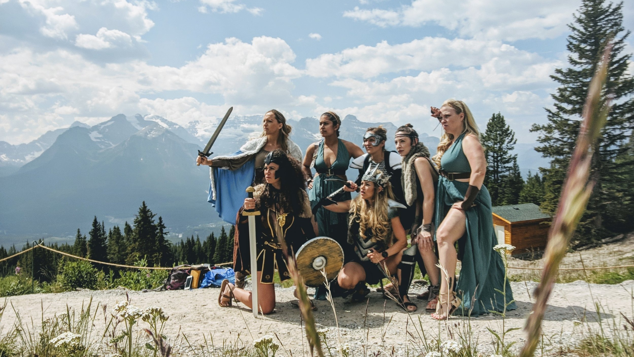Our Story… - This summer we threw a warrior-themed bachelorette party in Banff, Canada. We wanted to do something different, celebrate our strength, and have fun along the way.Of course we had a blast, but we also felt unexpectedly empowered by the love and support that came our way from total strangers.It was a party like no other, and an incredible bonding experience. Most importantly, it was a timely reminder of the respect and camaraderie powerful women can inspire together.We created The Armourie to enable other women to celebrate their inner strength, one party at a time.