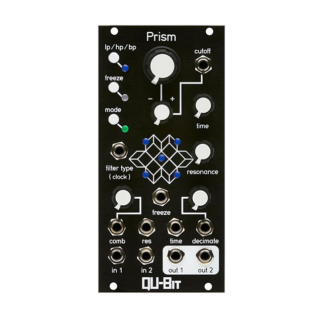 "The Qu-Bit crew has done it again. Prism is out today. I instantly fell in love with this thing!! _______________________________________""Prism is a multidimensional signal processor that creates a framework for the spectral metamorphosis of any input signal. This stereo audio buffer can be navigated through on 3 axes, each of which provides a different sonic journey through its array of time based controls."" #qubitelectronix #modular #synths #eurorack"