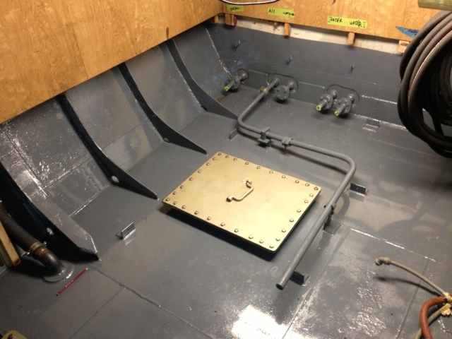 Top of Diesel Tank Refinished