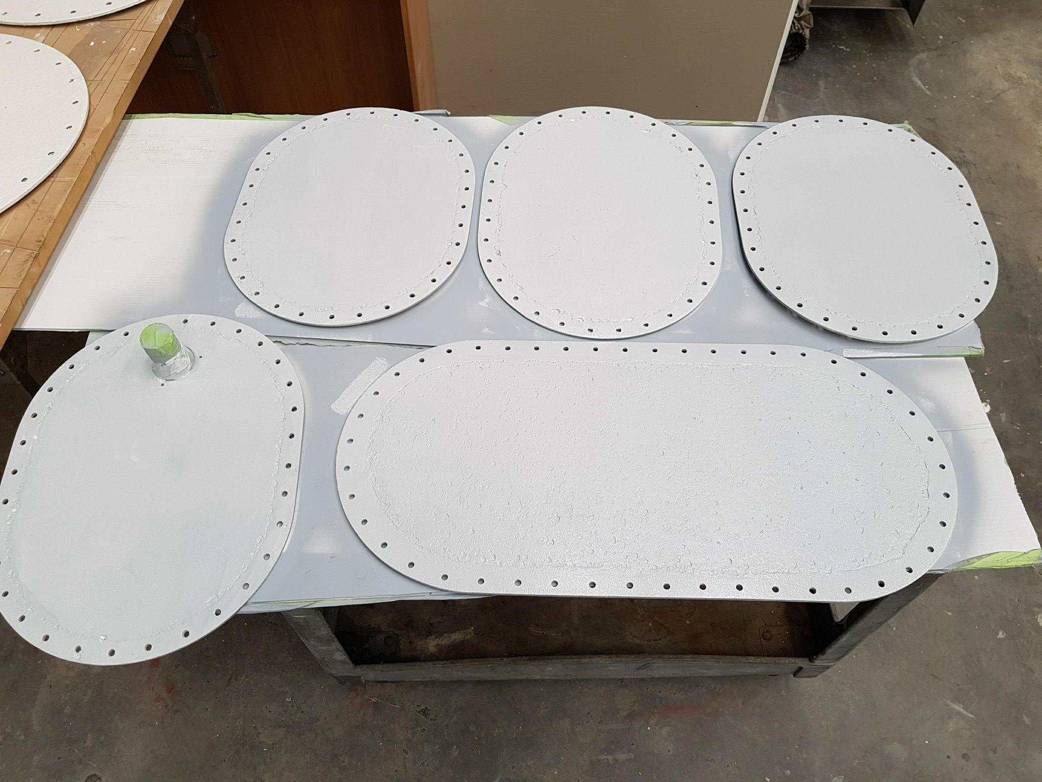 TANK LIDS REFINISHING AFTER