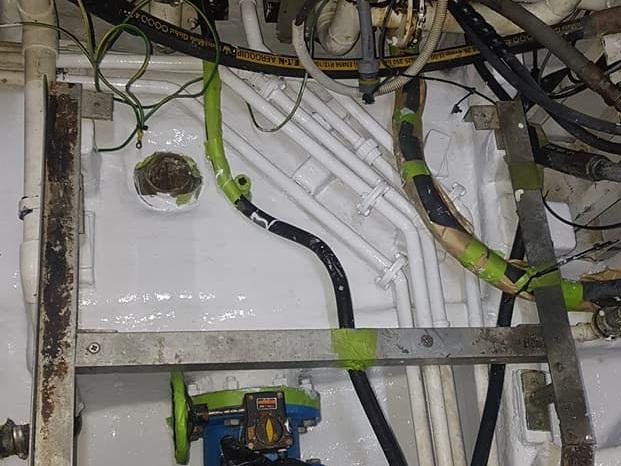 ENGINE ROOM BILGE CLEAN & REFINISH AFTER