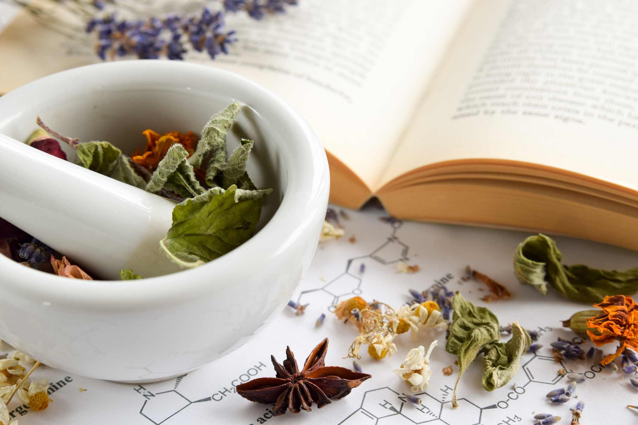 Herbal tea apothecary phytochemicals science research