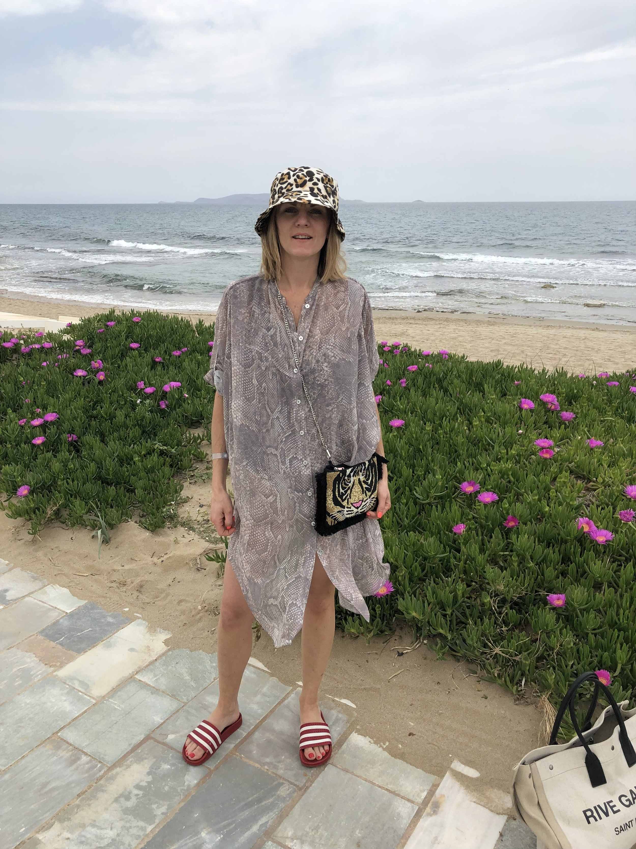 I bought this snake print Acne shirt dress second hand at The Fashion Reboot. It makes such a great beach dress. I would also wear this over jeans too.