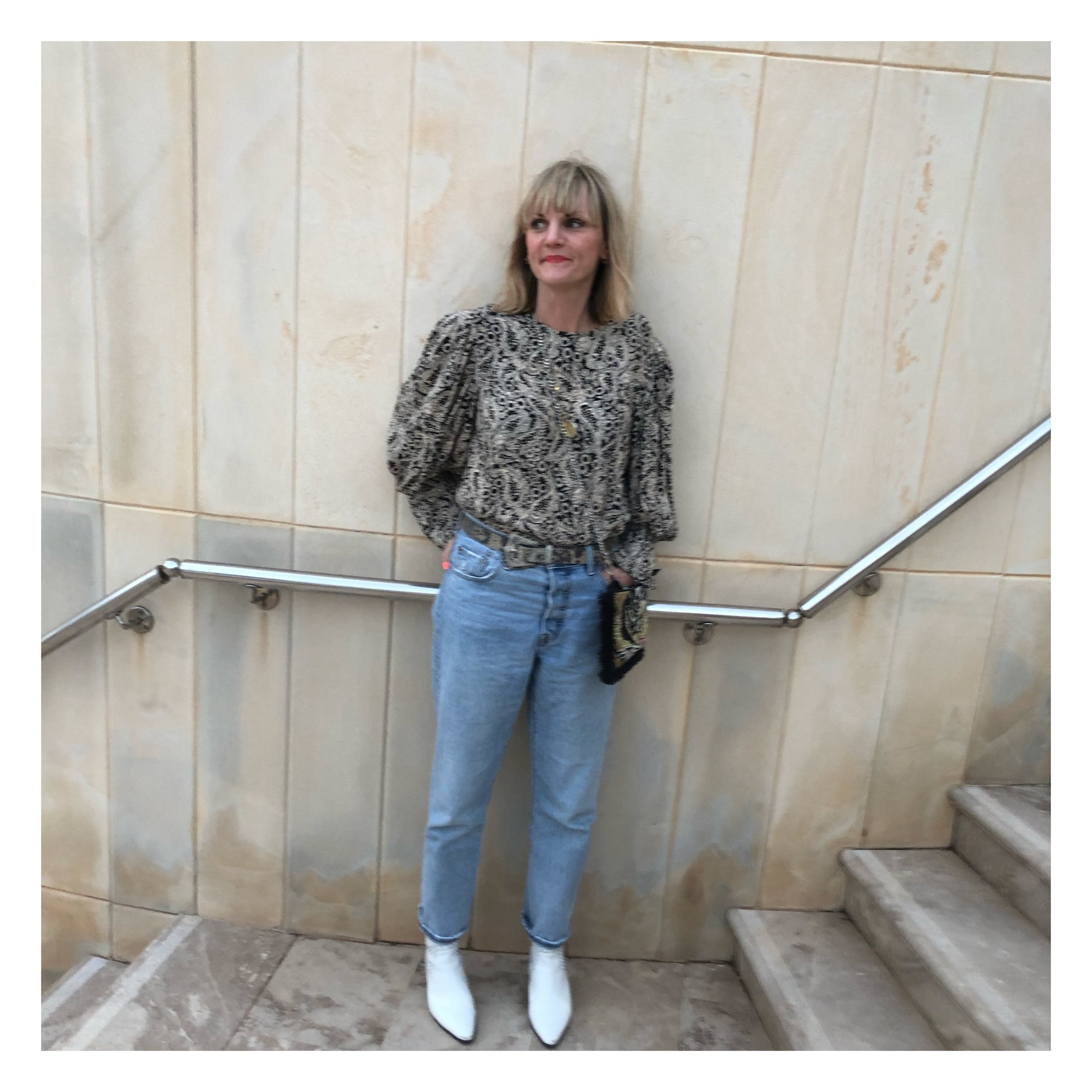 I was so glad I took my jeans as it was quite chilly at night. I also wore my white AND/OR boots from John Lewis a lot. These were gifted to me and I LOVE them. I wore my old Topshop tiger bag most nights too.  I do love a statement bag.