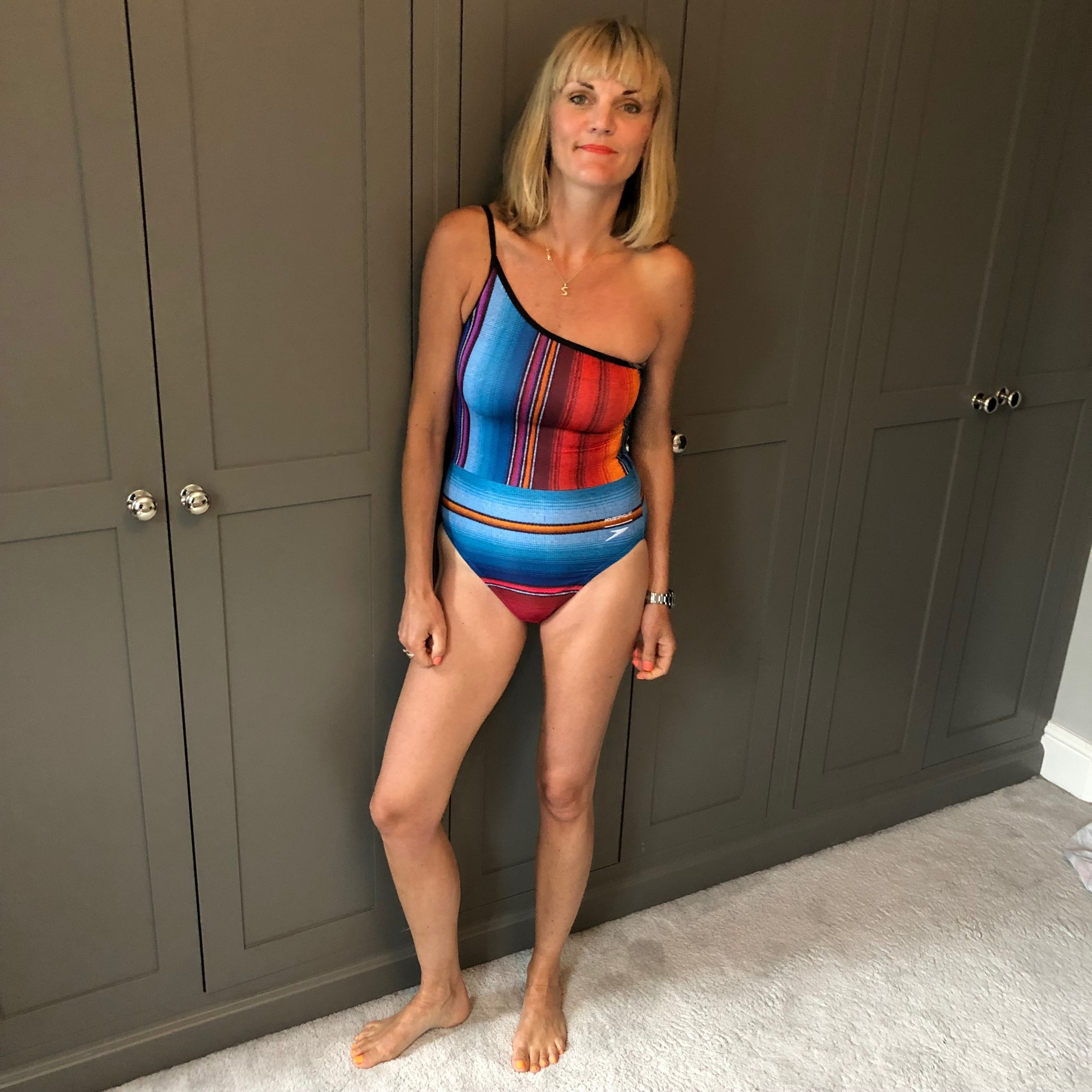 One shoulder is totally my vibe. i love this so much the print and the shape is so cool. This is only £40 available on  Speedo .