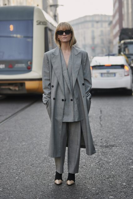 Or going more traditional tailoring colours like the uber stylish Jeanette Madsen who nails it every time!
