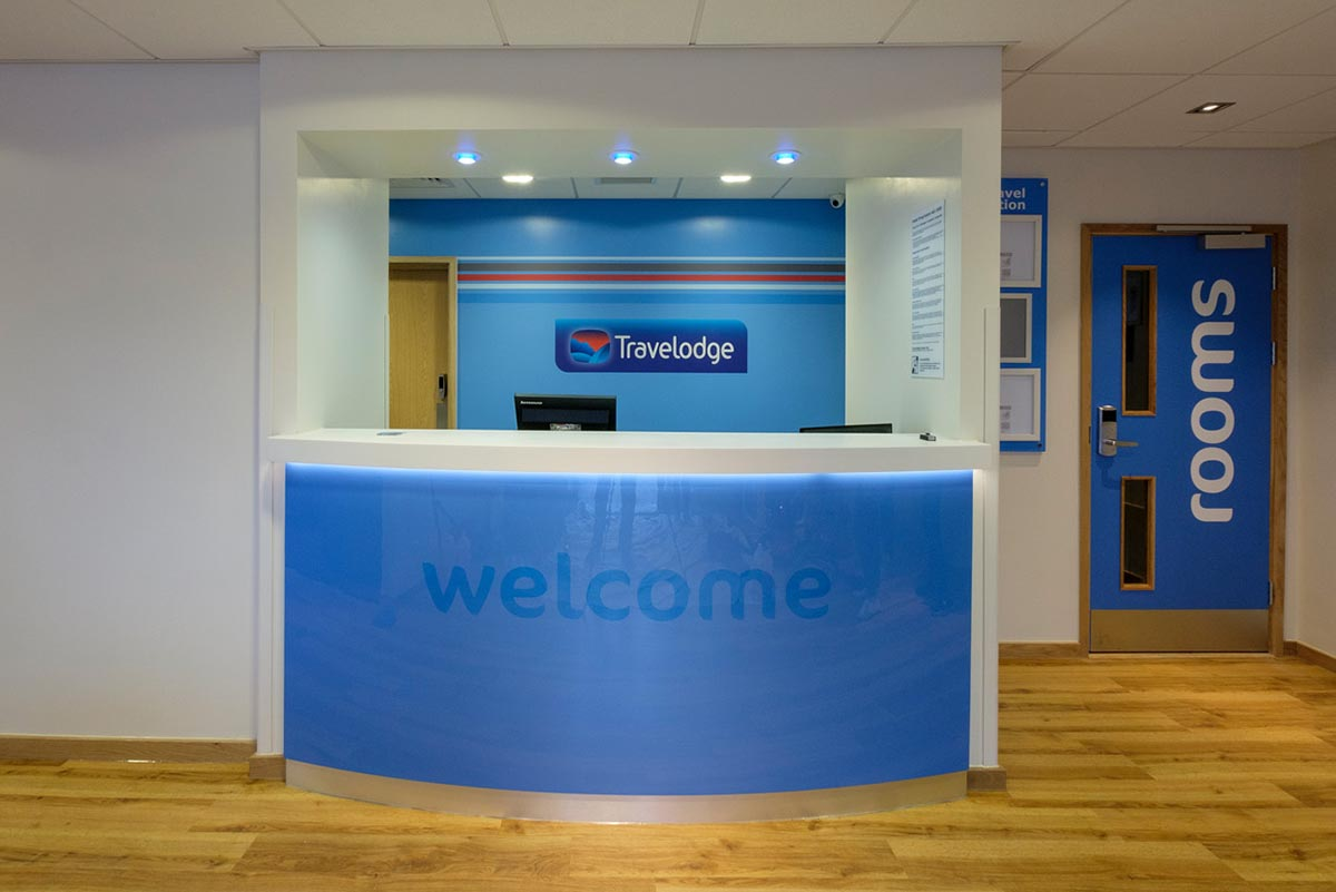 Travelodge hotel Andover reception