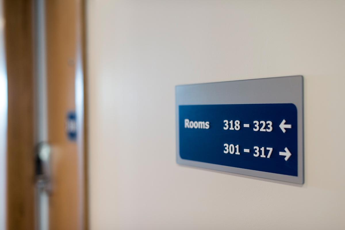Travelodge hotel Weston-Super-Mare room signage