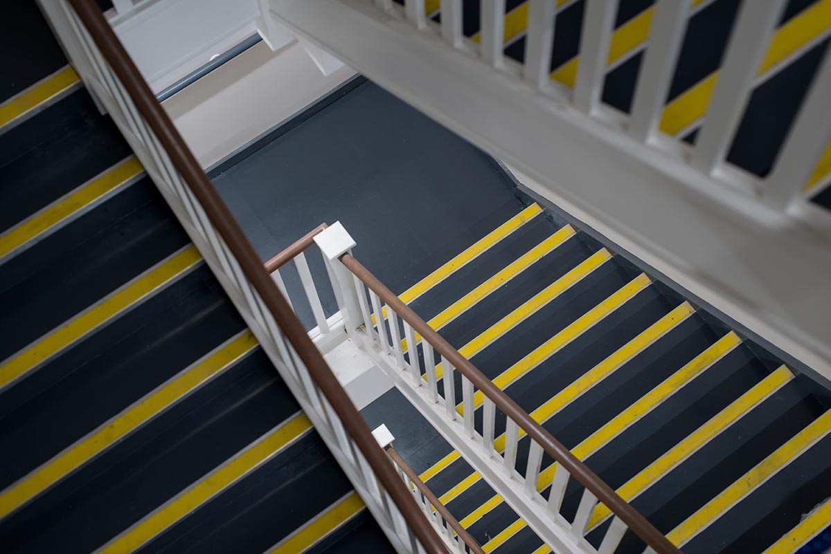 Travelodge hotel Weston-Super-Mare staircase
