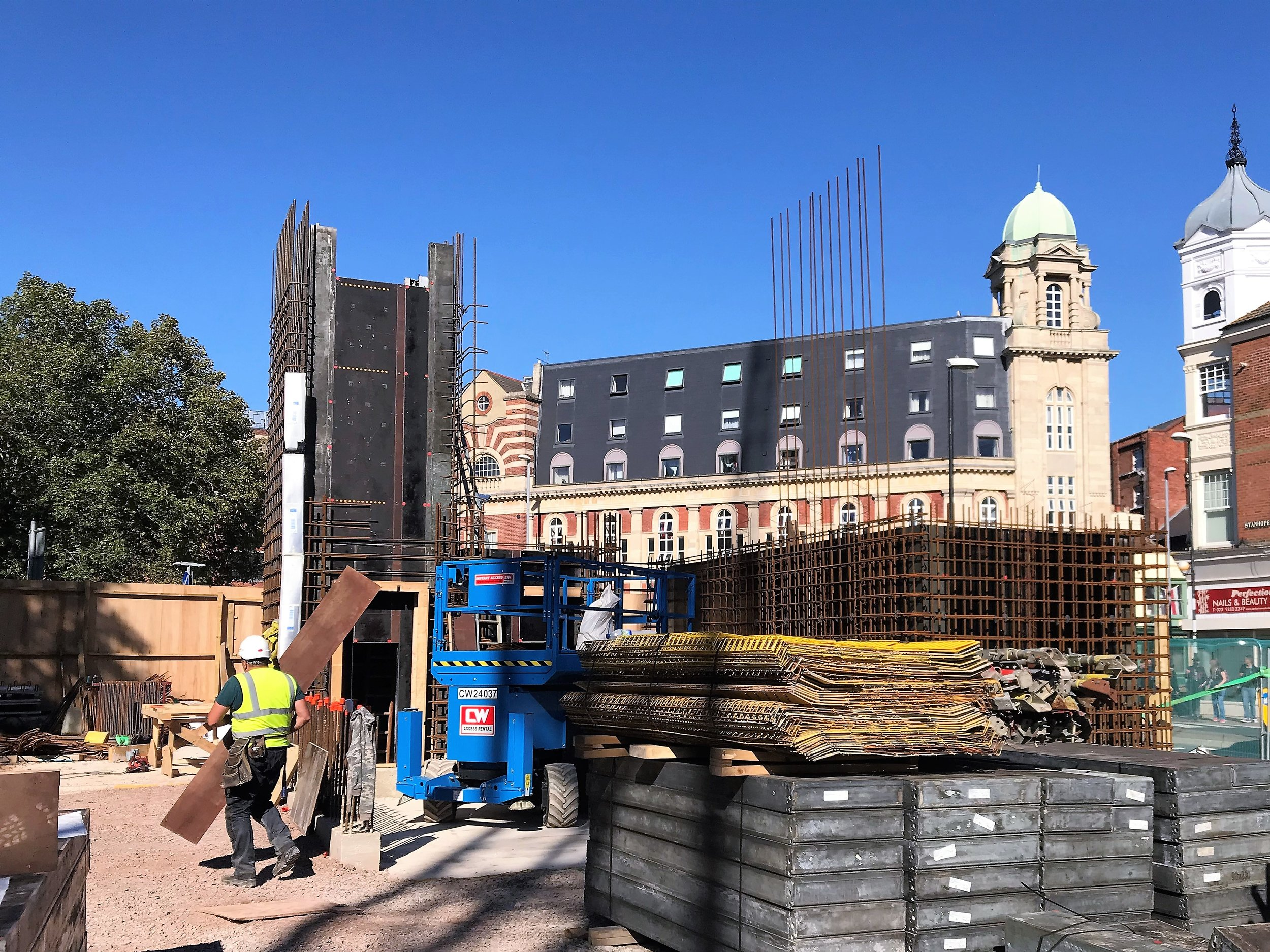Groundworks and frame commence on site at Travelodge Portsmouth