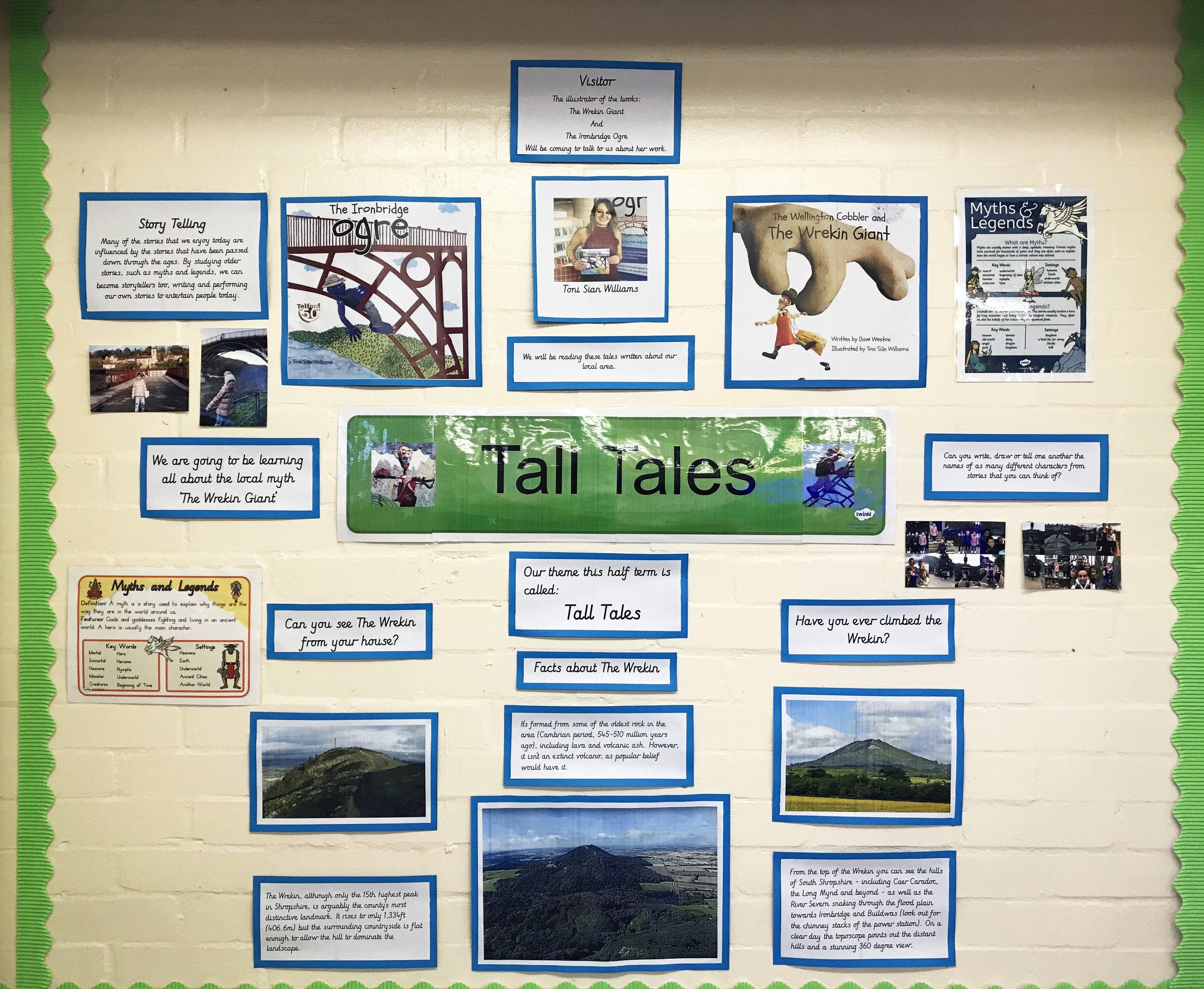Wrockwardine Wood Infants School - Wall display of myths & Legends