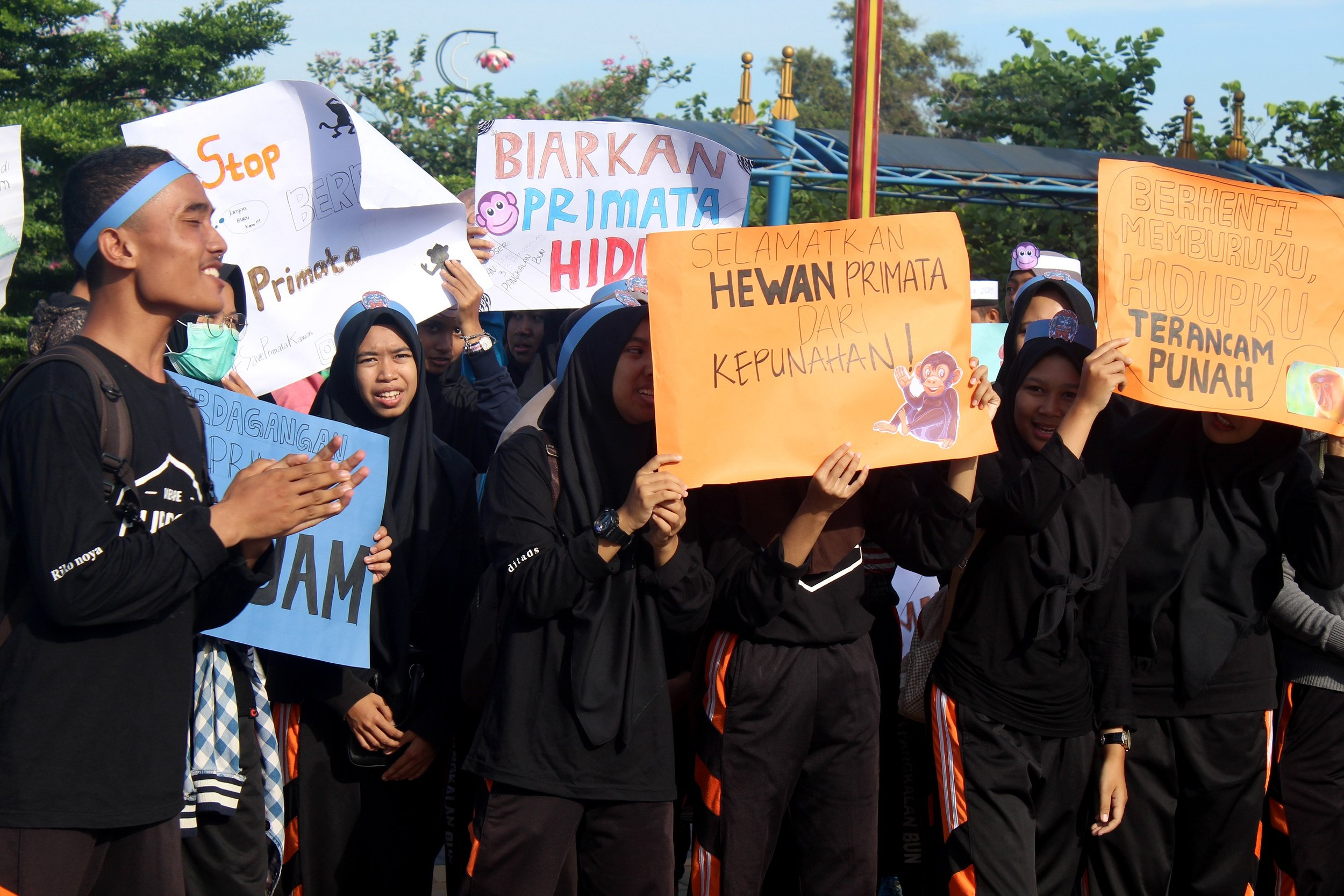 the message was loud and clear - Indonesia's primate species need protection!