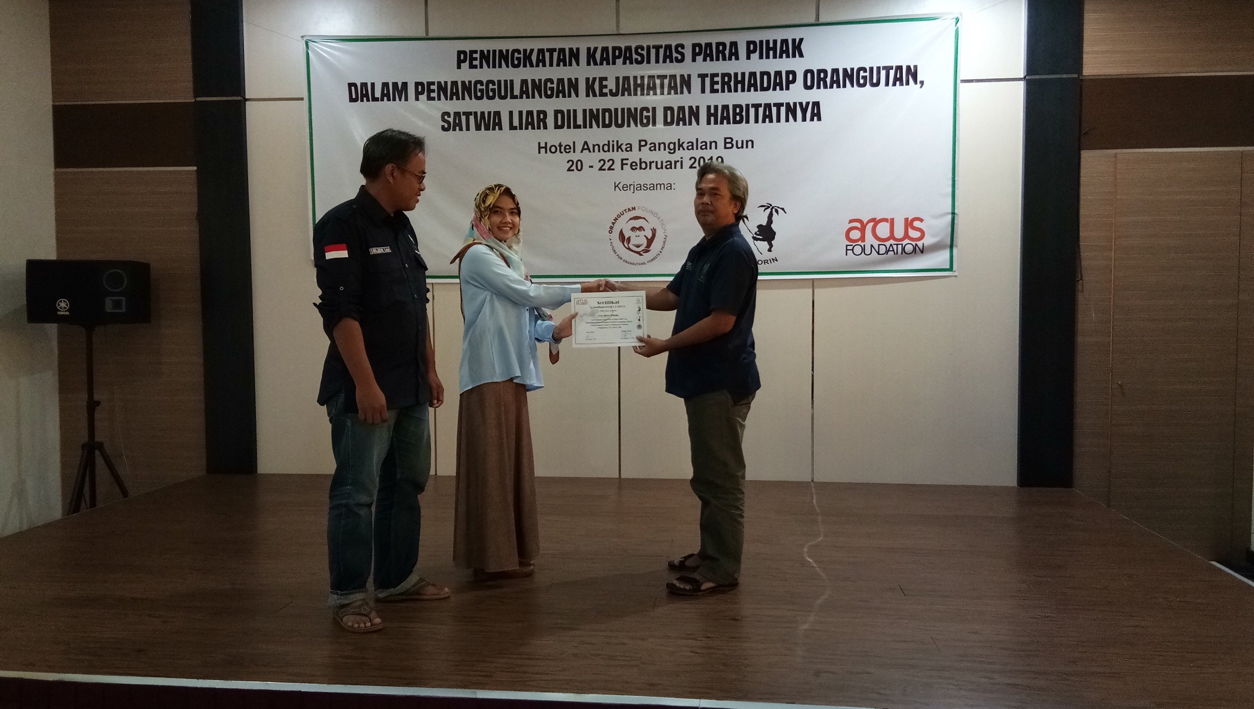 Certificate awarded for participating in SMART training